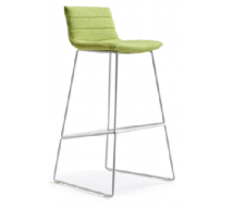 Newcity 337 High Metal Paint  Foot Fabric Seat Chair Unique Design Furniture Office Tall Chair High Quality Bar Stools Bar Chair Chinese Wholesale Foshan
