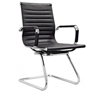 Newcity 684C Manager Executive Modern Visitor Chair Ergonomic Leather Visitor Chair Beautiful-Comfortable Commercial Furniture Staff Visitor Chair Chinese Supplier