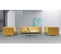 Newcity S-1101 Fashionable Sofa 1+1+3 Living Room Office Sofa Modern Unique Design Sofa Yellow Office Sofa Hotel Hall Durable Sofa Chinese Foshan Supplier