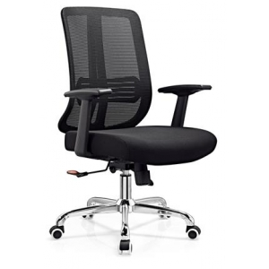 Newcity 1201B Economic Office Chair Swivel Mesh Chair Tilt & Lock Mechanism Middle Back Staff Chair Adjustable PP With PU Armpad BIFMA Standard 60mm Nylon Castor Supplier Foshan China