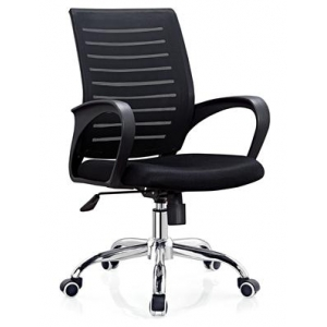 Newcity 1218B Economic Mesh Chair Swivel Mesh Chair Cheap And Durable Mesh Chair Tilt & Lock Mechanism Middle Back Staff Chair BIFMA Standard 50mm Nylon Castor Supplier Foshan China