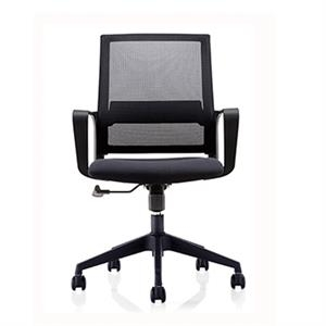 Newcity 1246B Economic Office Chair Swivel Mesh Chair 85mm Black Gaslift Tilt & Lock Mechanism Middle Back Staff Chair Original Foam BIFMA Standard Nylon Castor Supplier Foshan China