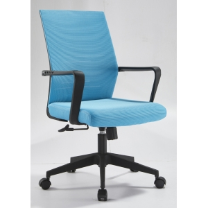 Newcity 1250B Cheapest PU Leather Office Chair Professional Manufacturer Black Office Chair Modern High Quality Executive Mid Back Chinese Foshan Supplier