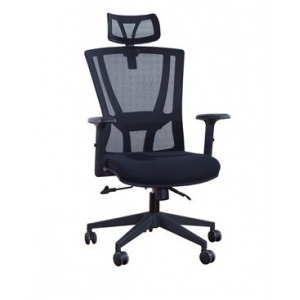 Newcity 1364A Economic Swivel Mesh Chair Black Gaslift Mesh Chair Tilt & Lock Mechanism High Back Manager Chair BIFMA Standard Nylon Castor Supplier Foshan China