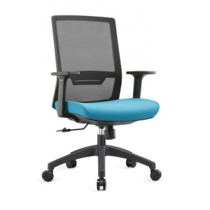 Newcity 1376B Economic Office Chair Swivel Mesh Chair Tilt & Lock Mechanism Middle Back Staff Chair Moulded Foam BIFMA Standard Nylon Castor Supplier Foshan China