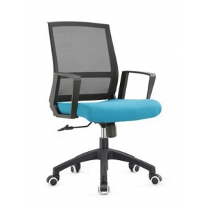 Newcity 1377B Economic Office Chair Swivel Mesh Chair Tilt & Lock Mechanism Middle Back Workwell Mesh Chair Staff Chair Moulded Foam BIFMA Standard Nylon Castor Supplier Foshan China