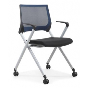 Newcity 1379 collapsible mechanism training chair economic training chair rotary training chair 5 years warranty molded foam nylon caster supplier Foshan China