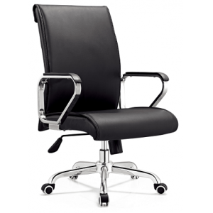 Newcity 6577 Executive Swivel Office Computer Chair Meeting Conference Office Chai Black Leather Office Chair Top Grade Office Chair Supply Foshan China