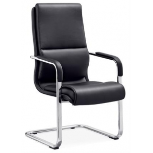 Newcity 6621C Modern PU And Leather Office Visitor Chair Modern Computer Office Chair Metal Chrome Office Chair Density Foam Supplier Foshan China