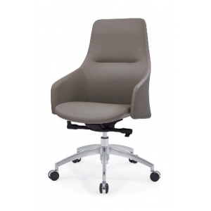 Newcity 6682B Lounge Furniture Office Chair New Design PU Office Chair Fashionable Middle Back Office Revolving Office Chair Chinese Foshan Supplier