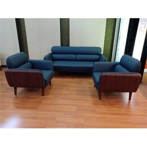 Newcity S-1071 Factory Price PU Leather Sectional 1+1+3 For Reception Office Sofa Modern Design Hot sale Executive Office Sofa Simple And High Quality Office Sofa Supplier Foshan China