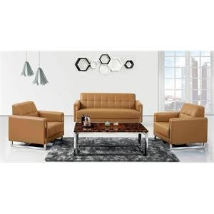 Newcity S-609 Leather Or Fabric Negotiation Reception Sofa  Parlor Simple Modern Office Sofa 5 Years Warranty High Density Foam Supplier Foshan China