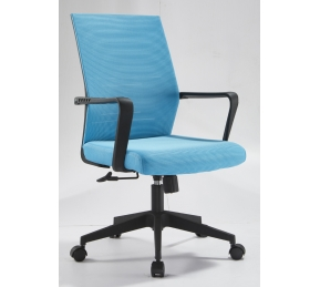 China Newcity 1250B Cheapest PU Leather Office Chair Professional Manufacturer Black Office Chair Modern High Quality Executive Mid Back Chinese Foshan Supplier factory
