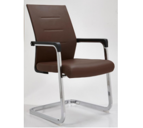 China Newcity 1250C Simple Metal Frame Visitor Chair Ergonomic Leather Visitor Chair Conference Office Room Visitor Chair Waiting Room Chair Chinese Supplier factory