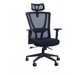 China Newcity 1364A Economic Swivel Mesh Chair Black Gaslift Mesh Chair Tilt & Lock Mechanism High Back Manager Chair BIFMA Standard Nylon Castor Supplier Foshan China factory