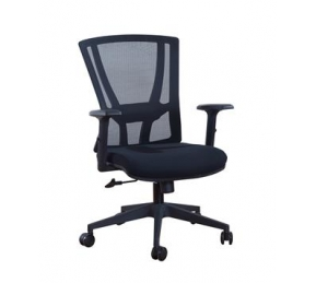 China Newcity 1364B Economic Swivel Mesh Chair 12mm Plywood Seat Mesh Chair Tilt & Lock Mechanism Middle Back Staff Chair BIFMA Standard Nylon Castor Supplier Foshan China factory