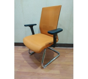 China Newcity 1525C Comfortable Meeting Room Mesh Chair Executive Mesh Chair Staff Visitor Chair Modern Design Visitor Chair Chinese Foshan factory