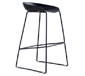 China Newcity 339 Hot Selling Fashion Chair High Quality Cafe Restaurant  Chair High Leg Chair Modern European Style Bar Chair Restaurant Furniture Metal Frame Bar Stool Chinese Wholesale Foshan factory