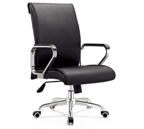 China Newcity 6577 Executive Swivel Office Computer Chair Meeting Conference Office Chai Black Leather Office Chair Top Grade Office Chair Supply Foshan China factory