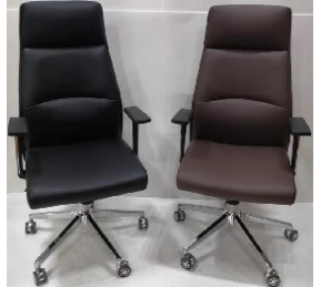 China Newcity 6651A Executive Office Chair Modern Computer Office Chair Gaslift Office Chair PU Leather Office Chair High Back Manager Office Chair BIFMA Standard Nylon Castor Supplier Foshan China factory