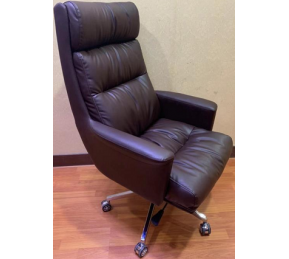 China Newcity 6652 High Back Luxury Executive Office Chair Professional Deluxe Computer Office Chair Black Leather Swivel Big Boss Office Chair Supply Foshan China factory