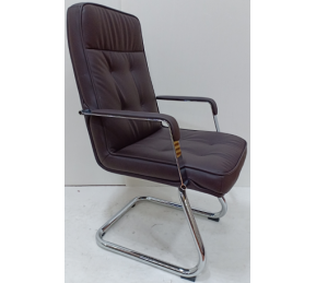 China Newcity 6657C Appearance PU Visitor Chair Conference Room Chair Comfortable Executive Visitor Chair Chrome Foot Visitor Chair Supply Foshan China factory