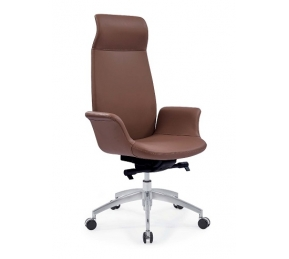 China Newcity 6681A Manager Aluminium Base Office Chair High End Computer Latest Leather Office Chair Fashionable High Back Office Revolving Office Chair Chinese Foshan Supplier factory