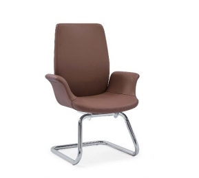 China Newcity 6681C Appearance PU  Visitor Chair High Quality Modern Chair Comfortable Executive Visitor Chair Metal Chrome Foot Visitor Chair Supplier Chinese Foshan factory