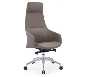 China Newcity 6682A CEO Office Furniture Aluminium Base Office Chair New Design PU Office Chair Fashionable High Back Office Revolving Office Chair Chinese Foshan Supplier factory