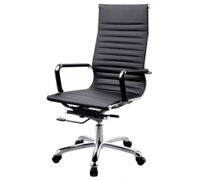 China Newcity 684A High Back  Manager Leather Cushion Office Chair Ergonomic Modern Revolving Chair Commercial Furniture Office Chair Chinese Foshan Supplier factory