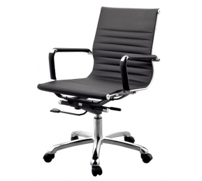 China Newcity 684B Modern Computer Ergonomic Swivel Meeting PU Leather Office Chair Professional Manufacturer Healthy Black Leather Office Chair Chinese Foshan Supplier factory