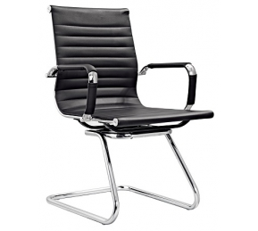 China Newcity 684C Manager Executive Modern Visitor Chair Ergonomic Leather Visitor Chair Good-looking Comfortable Commercial Furniture Staff Visitor Chair Chinese Supplier factory