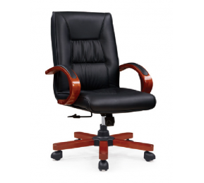 China Newcity 8109 Wholesale High Quality Classical Swivel Office Chair Solid Wood Genuine/PU Leather Classic Custom Design Series Classical Office Chair Supplier Chinese Foshan factory