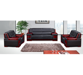 China Newcity S-876 Real Leather Wooden Frame Hotel Office Durable Office Sofa Boss Lounge Sofa Commercial Comfortable Office Sofa Chinese Foshan Supplier factory