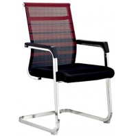 China Newcity 1222C Commercial Mesh Chair WorkWell Visitor Office Mesh Chair PP With Metal Chrome Armrest Mesh Chair Conference Room Mesh Chair Supplier Foshan China factory