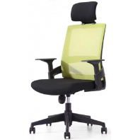 China Newcity 1372A Fashion Mesh Office Chair With Headrest Ergonomic Swivel Managerial Chair High Quality Functional Adjustable Conference Mesh Chair Supplier Foshan China factory