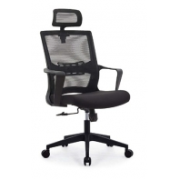China Newcity 1373A Modern Mesh Office Chair Swivel With Headrest Back Good Price Computer Desk Chair Mesh Fabric Office Chair Sale on Line Supplier Foshan China factory