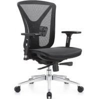 China Newcity 1523B  Nylon Frame Mesh Chair Special Office Chair 330mm Aluminium Base Mesh Chair CEO Luxury Executive Ergonomic Mesh Chair Chinese Foshan factory